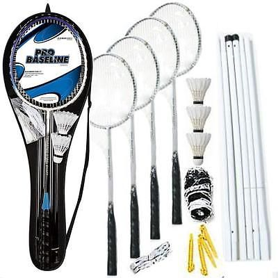 Pro 4 player badminton #rackets set net #poles outdoor new #garden games activty,  View more on the LINK: http://www.zeppy.io/product/gb/2/141703571282/