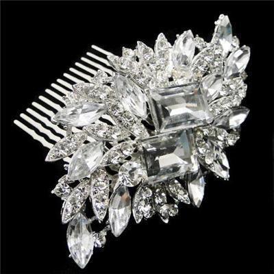 Vintage Rhinestone Bridal Hair Comb, Bridal Hair, Bridal Hair Accessory, Bridal Hair Clip. $30.00, via Etsy.