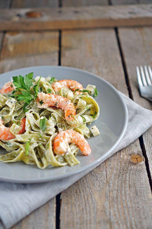 Фетучини с соусом Альфредо и креветками, пошаговый фото рецепт, кулинарный блог
