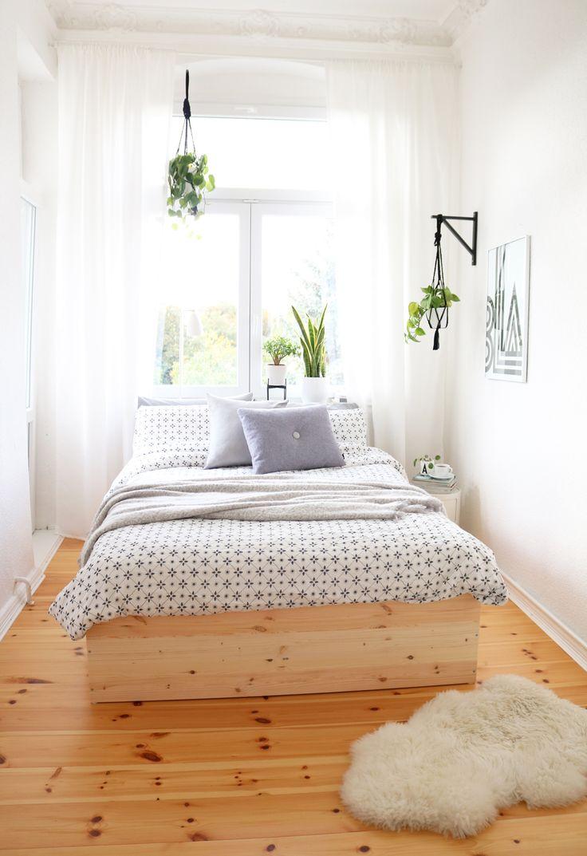 diy bettgestell aus kiefernholzplatten - Niedliche Noble Schlafzimmerideen