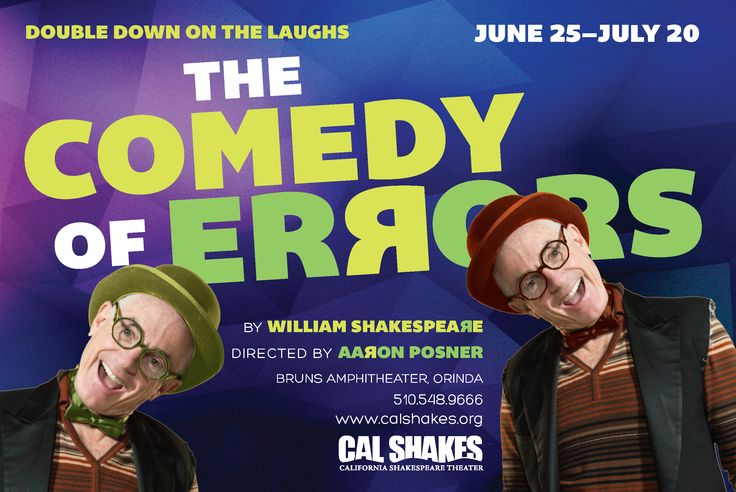 Show art for Comedy of Errors! http://www.calshakes.org/v4/ourplays/2014/2014_comedy.html