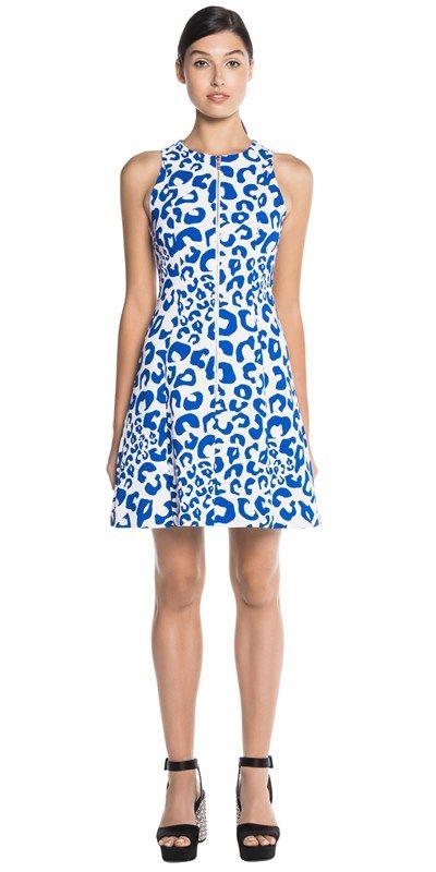 CUE - Graphic Animal Print Dress