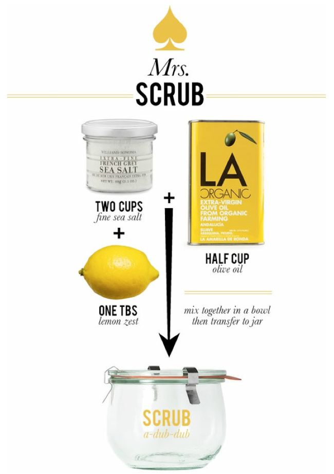 homemade body scrub.