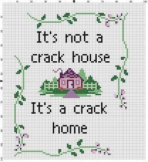 It's not a crack house it's a crack home  by SnarkyArtCompany