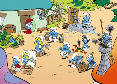 smurfs (513 pieces)