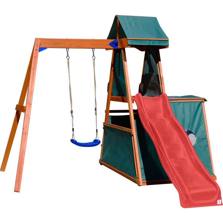 Hawke Kids Play Centre Swing and Slide Set - Red   Buy Outdoor Playsets