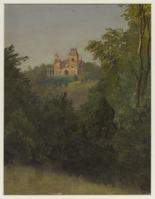 Drawing: Olana from the Southwest, ca. 1872.  Artist: Frederic Edwin Church.