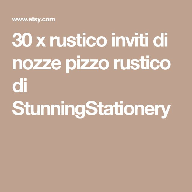 30 x rustico inviti di nozze pizzo rustico di StunningStationery