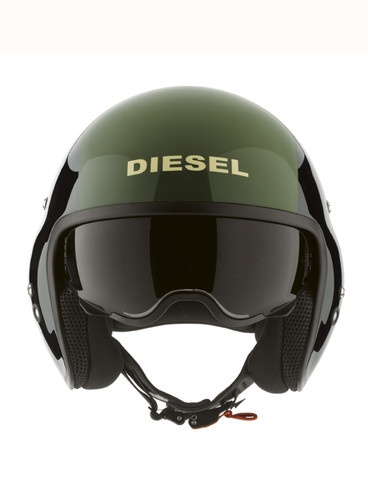Great Helmet from DIESEL: HI-JACK BLACK/GREEN