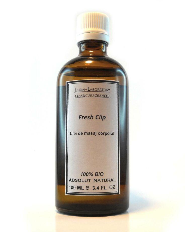 Produse cosmetice personalizate mai multe detalii pe www.lorinlab.com ulei corporal unisex Ulei concentrat cu active cosmetice Fresh Clip