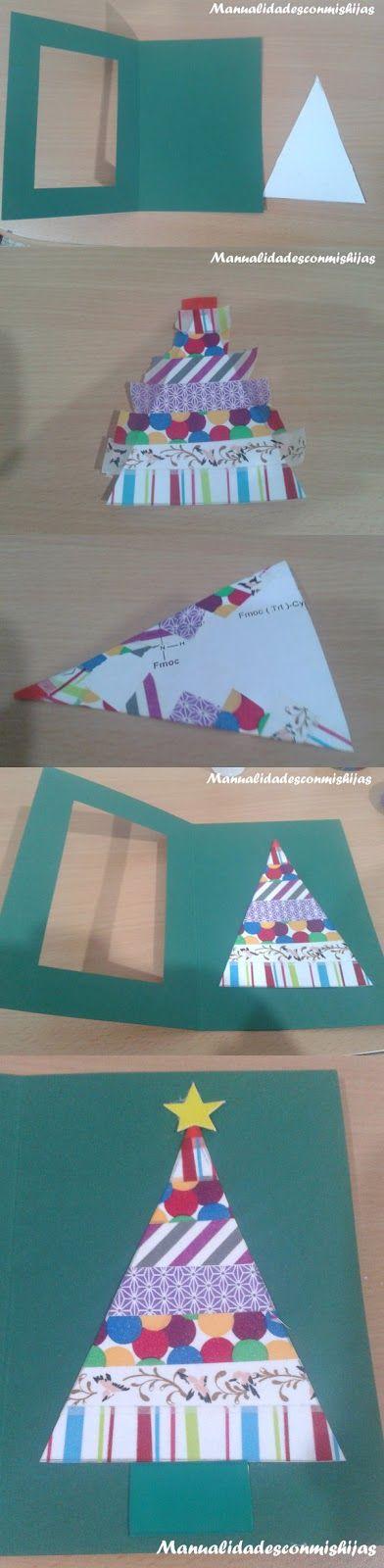 Tarjetas de navidad con whasi-tape