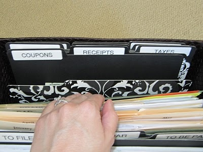 """Like the way she separates these """"everyday"""" papers."""