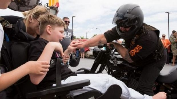 100 bikers show up at birthday party of Australian teen with cerebral palsy | Stuff.co.nz