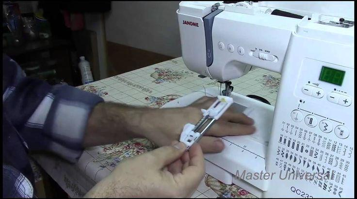 Потайная строчка и штопка на швейной машинке Janome.Часть12.Видео №19.