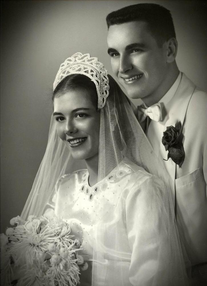 1950s Stunning Vintage Wedding Photo 11x14 Bride Amp Groom