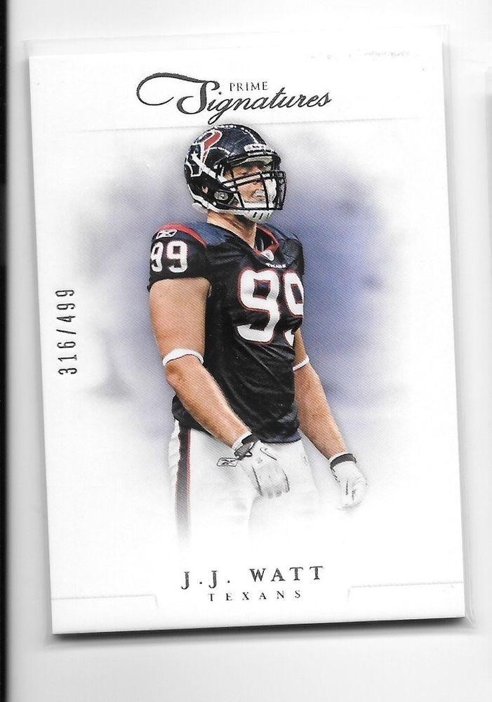 2012 Panini Prime Signatures # 106 JJ Watt Houston Texans 316/499 #HoustonTexans