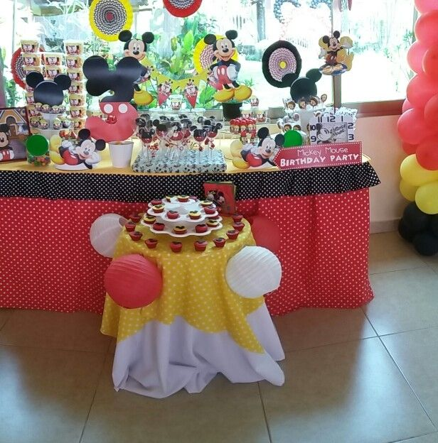 #mickey #Cumpleaños #Sweet #EndulzandoEspacios #Endulzate #CandyBar