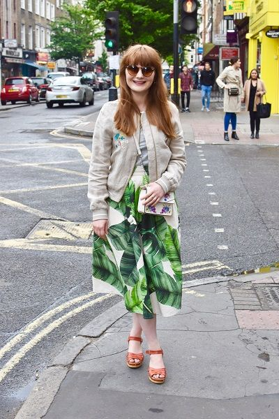 Pleated Midi Skirt from Curtains