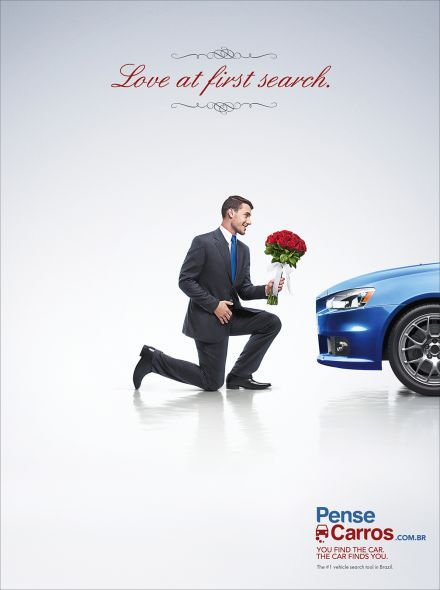 Love at the first search. You find the car. The car finds you.  Advertising Agency: Dez Comunicação, Porto Alegre, Brazil