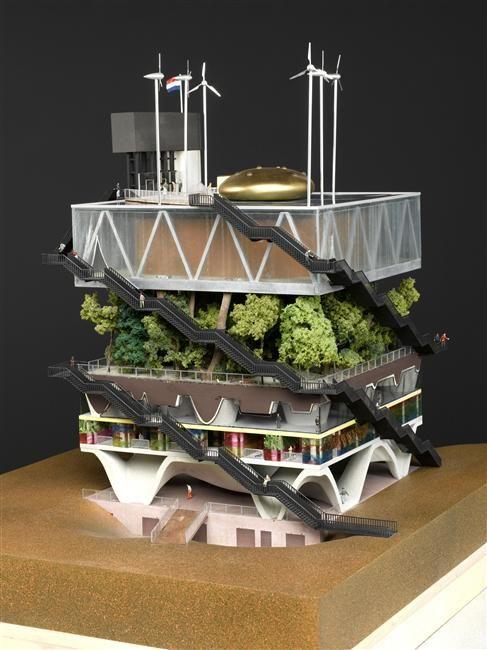 MVRDV - pavillon des Pays Bas - Exposition universelle de Hanovre Maquette