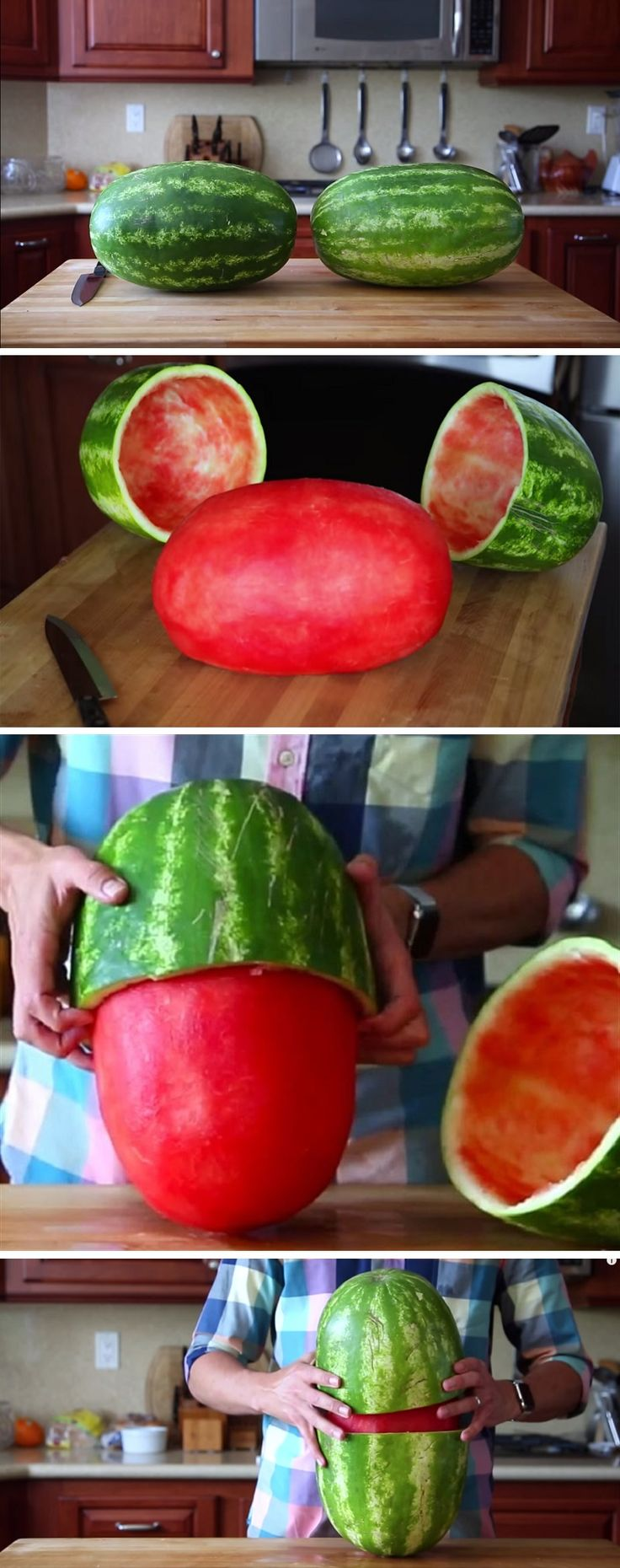 This watermelon trick is amazing! Sure to impress any party guests! #watermelon