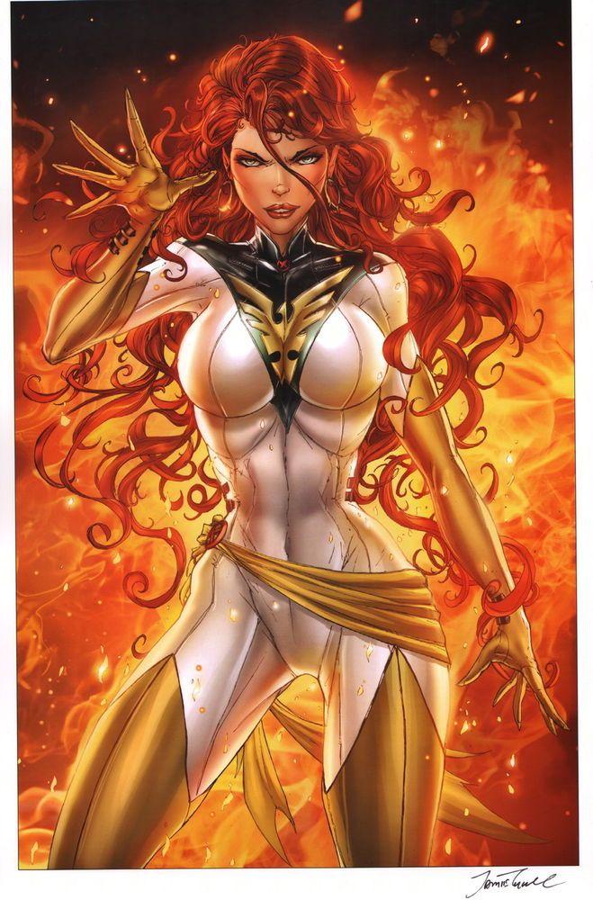 Jamie Tyndall Marvel Comics SIGNED X-Men Art Print ~ Phoenix Jean Grey in Collectibles, Comics, Posters | eBay