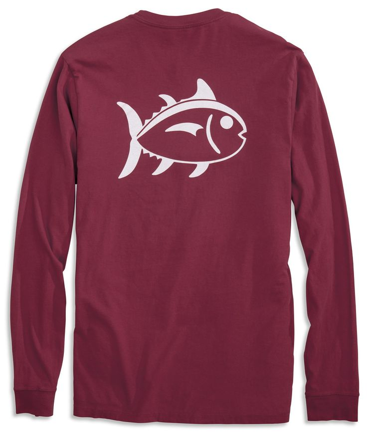 Outline Skipjack University Long Sleeve T-shirt | Southern Tide