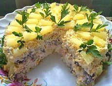 Торт-салат «Чародейка» | Лучшие советы, секреты, рецепты