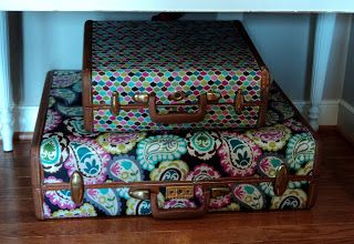 Richmond Thrifter: Boden Inspired Suitcase Decor Like this lady (: