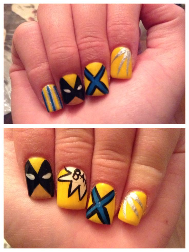finally had my own wolverine nails done!!! :) i love them!!! ready for the premiere a week from today! :D