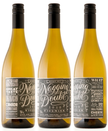Chalk lettering #typographic wine label