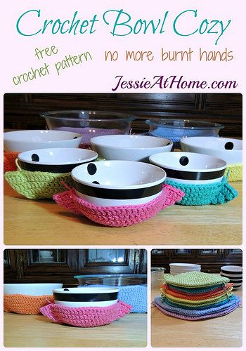 Crochet Bowl Cozy free crochet pattern by Jessie At Home