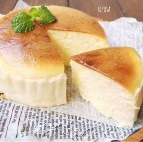 保存版にしてほしいレシピ❤️瞬溶けスフレチーズケーキ|riyusa日和