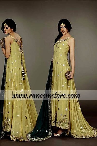 Design HER1171, Product code: HER1171, Trendy and elegant Pakistani designer Party wear dresses latest collection 2013 buy online
