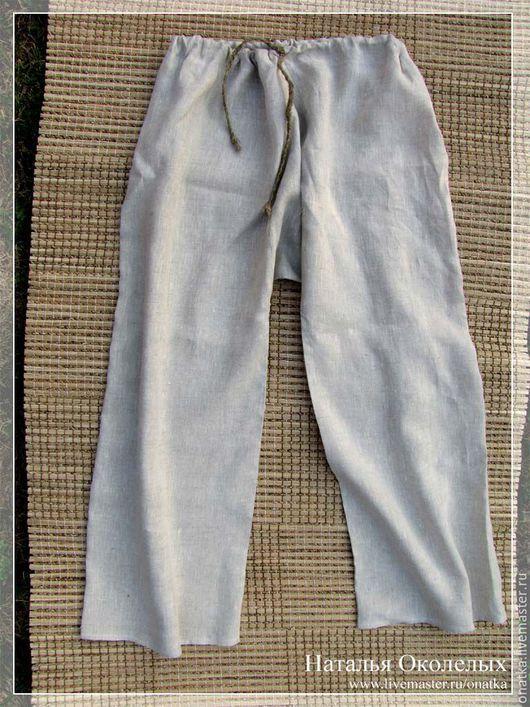 Этническая одежда ручной работы. Ярмарка Мастеров - ручная работа. Купить Порты льняные. Handmade. Порты, мужские брюки