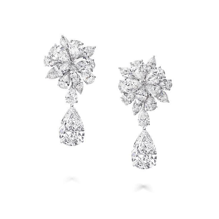 A pair of Graff High Jewellery Diamond earrings wi…