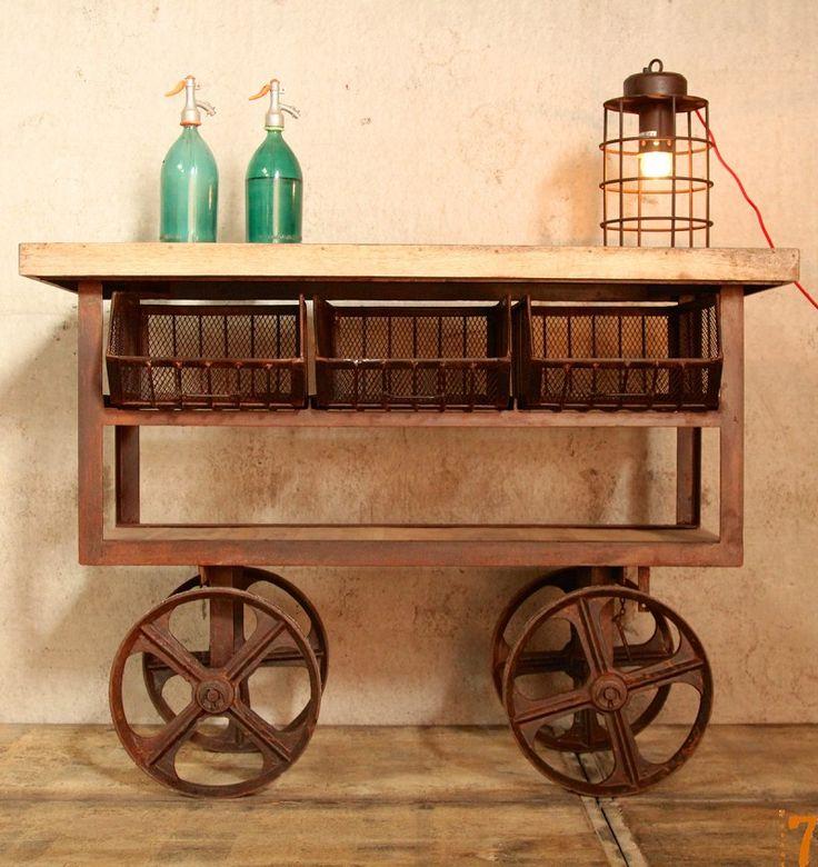 Barak 39 7 mobilier esprit industriel for Mobilier cuisine industrielle