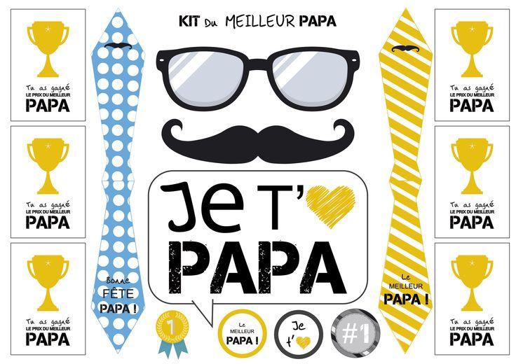 Kit Fête des Pères - à télécharger, à imprimer et à découper : Cartes par rgb