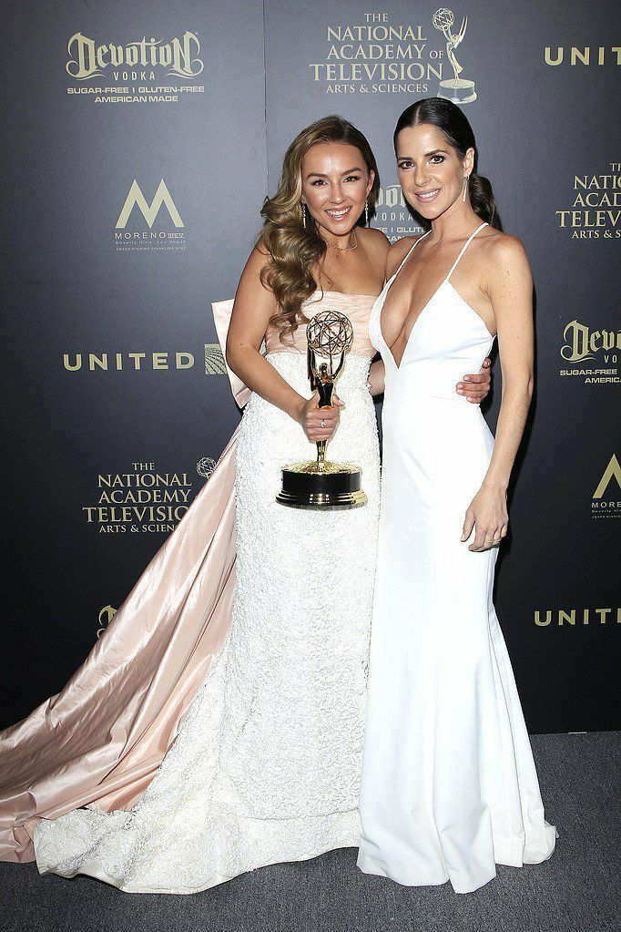 Kelly Monaco with Lexi Ainsworth at the 2017 Daytime Emmy's.