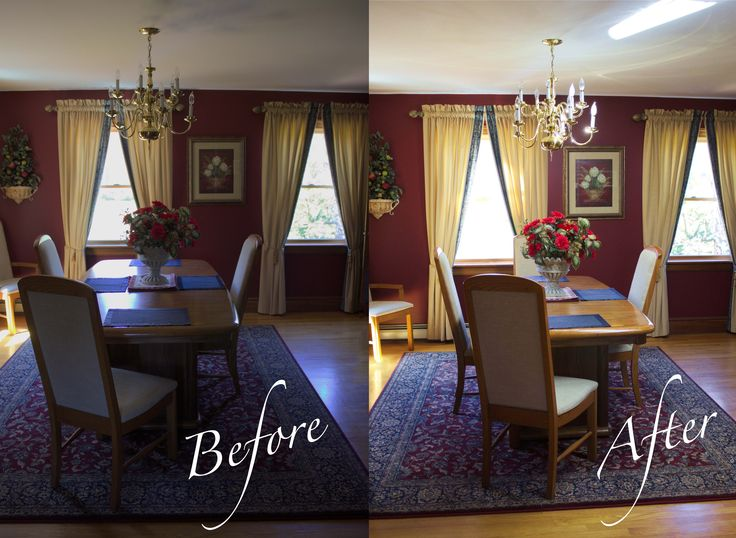 A house in Maine with a dark under used dining room is now a welcoming space for the family to utilize!
