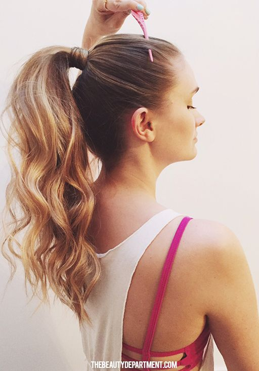 post workout hair ponytail the beauty department