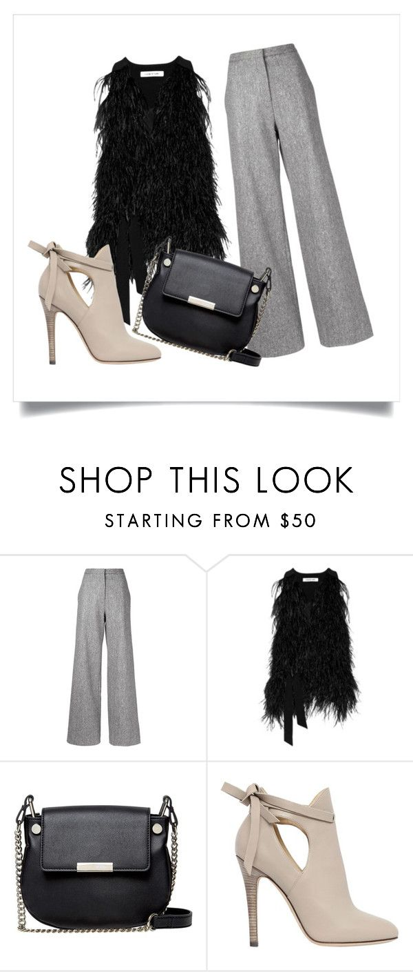 """Black and grey"" by maikoyt on Polyvore featuring ADAM, Elizabeth and James, French Connection and Jimmy Choo"