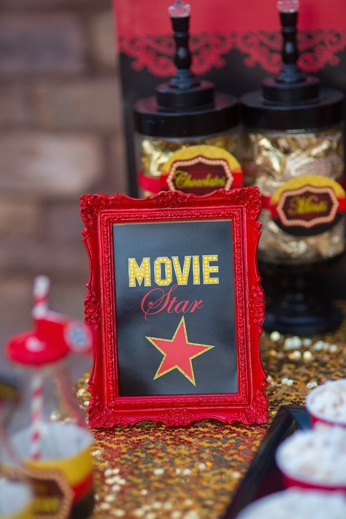 HOLLYWOOD Party - Movie Party - Cinema Party- Theater Party- CINEMA CANDY LABELS
