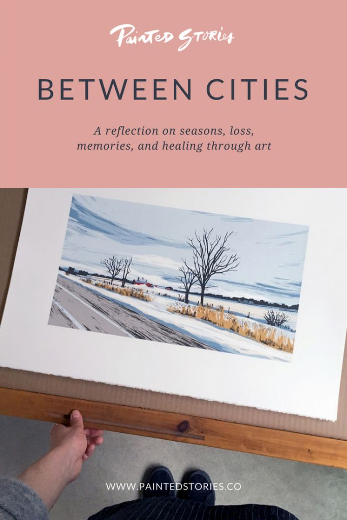 Between Cities - Painted Stories. A series of hand-crafted fine art screenprints.