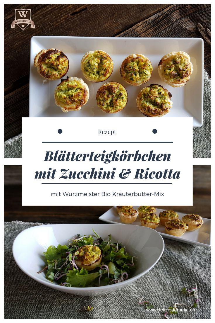 Die Blätterteigkörbchen aus dem Blog @delizie d'Amelia sind wahre Multitalente: Ob als Vorspeise mit Nüsslisalat, auf einem Buffet oder als gesunder Snack für Kinder, sie sind einfach lecker. Der Bio Kräuterbutter-Mix sorgt für die richtige Würze. #food #recipe #rezepte #wuerzmeister #vegetarian #foodforkids #eathealthy