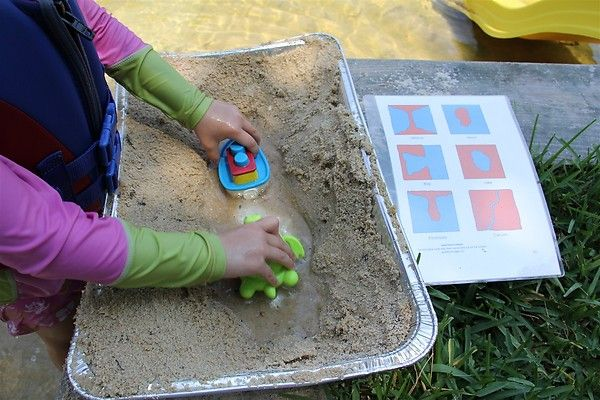 Montessori landforms - for an older child this would be GREAT!