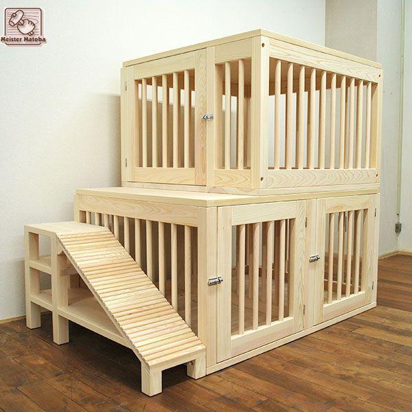 3匹用2階建てペットハウス 大きな犬小屋no1701026 オーダー家具製作事例集 犬小屋 ハウス 家具