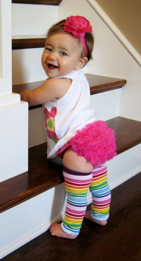 Baby leg warmers. The diaper cover! Omg