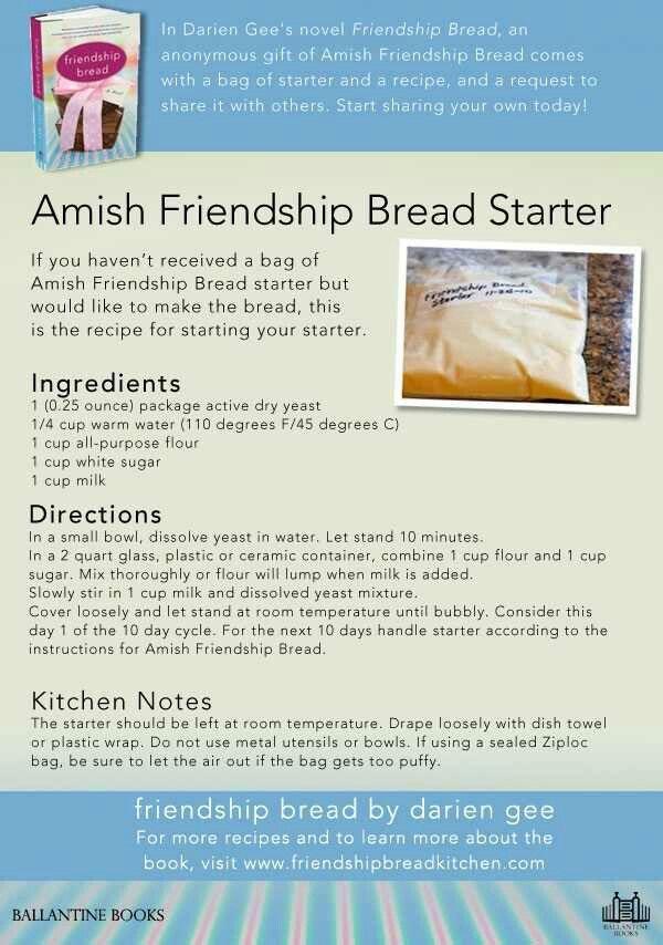 Starter recipe | bread | Pinterest | Friendship, Starter