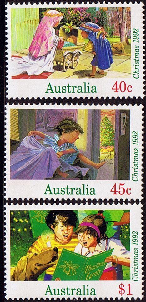 Australia 1992 Christmas Set Fine Mint SG 1383/5 Scott 1303/5 #britairtrans